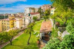 Πανοραμική άποψη από τον κήπο Minerva ` s στο Σαλέρνο, Campania, Ιταλία Στοκ φωτογραφία με δικαίωμα ελεύθερης χρήσης