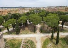 Πανοραμική άποψη από τον πύργο του Castle Άγιος Angelo Ρώμη Ιταλία J Στοκ Εικόνα