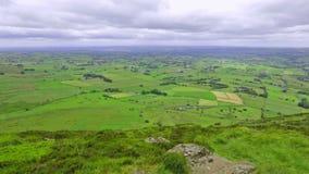 Πανοραμική άποψη από το βουνό Slemish, κομητεία Antrim, Βόρεια Ιρλανδία, UK απόθεμα βίντεο
