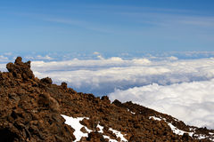 Πανοραμική άποψη από το βουνό Teide Στοκ Φωτογραφίες