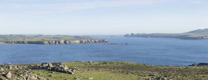 Πανοραμική άποψη από το κεφάλι του ST Davids σε Pembrokeshire, Ουαλία στοκ εικόνες με δικαίωμα ελεύθερης χρήσης