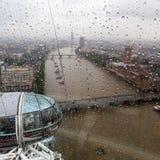 Πανοραμική άποψη από το μάτι του Λονδίνου Στοκ φωτογραφία με δικαίωμα ελεύθερης χρήσης