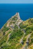 Πανοραμική άποψη από Forza δ ` Agrà ², με το Saracen Castle στο υπόβαθρο Επαρχία του Μεσσήνη, Σικελία, νότια Ιταλία στοκ εικόνες με δικαίωμα ελεύθερης χρήσης