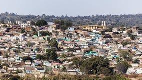 Πανοραμική άποψη ματιών πουλιών της πόλης Jugol Harar Αιθιοπία Στοκ Εικόνες