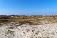 Πανοραμική άποψη πέρα από την περιοχή άμμου στοκ εικόνες