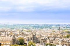 Πανοραμική άποψη πέρα από τη εικονική παράσταση πόλης του Εδιμβούργου - της Σκωτίας στοκ εικόνα