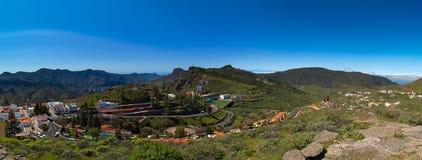 Πανοραμική άποψη πέρα από Artenara το χωριό Στοκ φωτογραφία με δικαίωμα ελεύθερης χρήσης