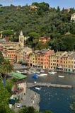 Πανοραμική άποψη πέρα από Portofino, Λιγυρία, Ιταλία Στοκ εικόνα με δικαίωμα ελεύθερης χρήσης