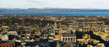 Πανοραμική άποψη πόλεων της Σκωτίας Edinburg Στοκ Φωτογραφία