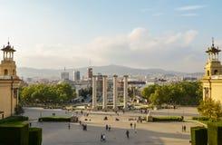 Πανοραμική άποψη πόλεων της Βαρκελώνης, Ισπανία Στοκ φωτογραφίες με δικαίωμα ελεύθερης χρήσης