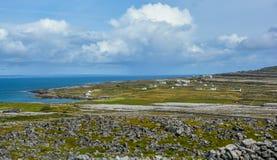 Πανοραμική άποψη σε Inishmore, νησιά Aran, Ιρλανδία Στοκ Φωτογραφίες
