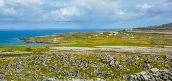 Πανοραμική άποψη σε Inishmore, νησιά Aran, Ιρλανδία Στοκ Εικόνα