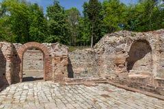 Πανοραμική άποψη στα αρχαία θερμικά λουτρά Diocletianopolis, πόλη Hisarya, Βουλγαρία Στοκ Φωτογραφία