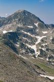 Πανοραμική άποψη στην αιχμή Muratov, βουνό Pirin Στοκ Εικόνα