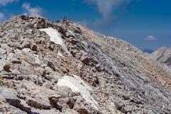 Πανοραμική άποψη στην αιχμή Vihren, βουνό Pirin Στοκ Εικόνες