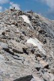 Πανοραμική άποψη στην αιχμή Vihren, βουνό Pirin Στοκ εικόνες με δικαίωμα ελεύθερης χρήσης