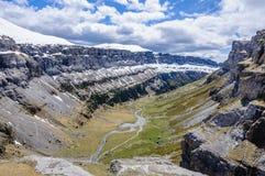 Πανοραμική άποψη στην κοιλάδα Ordesa, Αραγονία, Ισπανία Στοκ Φωτογραφία