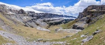 Πανοραμική άποψη στην κοιλάδα Ordesa, Αραγονία, Ισπανία Στοκ φωτογραφία με δικαίωμα ελεύθερης χρήσης