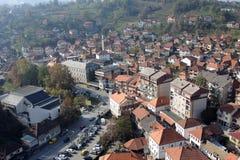 Πανοραμική άποψη στην παλαιά πόλη TeÅ ¡ anj στοκ εικόνες με δικαίωμα ελεύθερης χρήσης