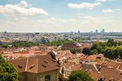Πανοραμική άποψη στην Πράγα Στοκ φωτογραφία με δικαίωμα ελεύθερης χρήσης