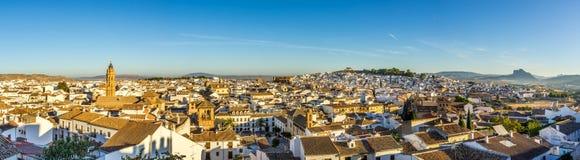 Πανοραμική άποψη στη Antequera πόλη - Ισπανία Στοκ Εικόνα