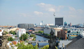 Πανοραμική άποψη στο Βερολίνο Στοκ Εικόνες