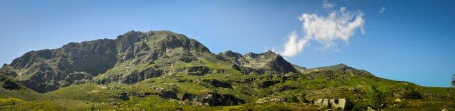 Πανοραμική άποψη στο βουνό στοκ φωτογραφία
