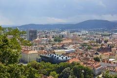 Πανοραμική άποψη στο Γκραζ, Αυστρία Στοκ Εικόνα