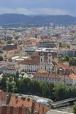 Πανοραμική άποψη στο Γκραζ, Αυστρία Στοκ Φωτογραφία