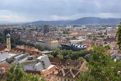 Πανοραμική άποψη στο Γκραζ, Αυστρία Στοκ φωτογραφία με δικαίωμα ελεύθερης χρήσης