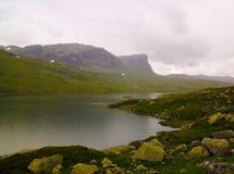 Πανοραμική άποψη στο οροπέδιο Hardangervidda και τη λίμνη Votna στη Νορβηγία Στοκ Εικόνες