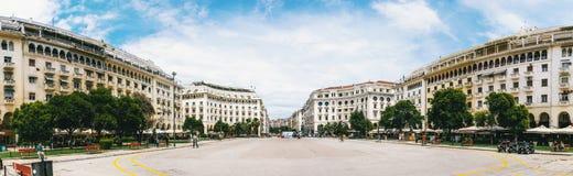 Πανοραμική άποψη σχετικά με την πλατεία Aristotelous στοκ εικόνα με δικαίωμα ελεύθερης χρήσης
