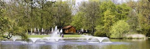 Πανοραμική άποψη σχετικά με το πάρκο Στοκ φωτογραφία με δικαίωμα ελεύθερης χρήσης