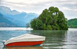 Πανοραμική άποψη της λίμνης Annecy στη Γαλλία Στοκ Φωτογραφίες