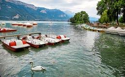 Πανοραμική άποψη της λίμνης Annecy στη Γαλλία Στοκ φωτογραφίες με δικαίωμα ελεύθερης χρήσης