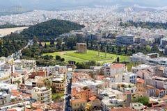 Πανοραμική άποψη της Αθήνας από την ακρόπολη, Ελλάδα στοκ φωτογραφίες με δικαίωμα ελεύθερης χρήσης