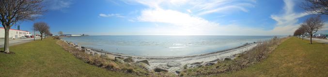 Πανοραμική άποψη της ακτής σε Trelleborg, Σουηδία Στοκ εικόνα με δικαίωμα ελεύθερης χρήσης