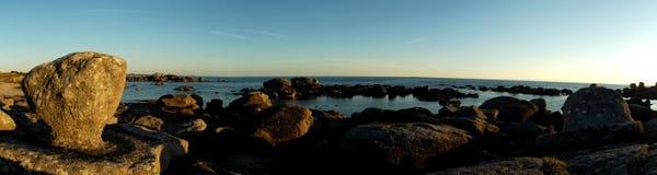 Πανοραμική άποψη της ακτής Finistère Στοκ Φωτογραφία