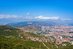 Πανοραμική άποψη της Βαρκελώνης από Tibidabo Στοκ εικόνες με δικαίωμα ελεύθερης χρήσης