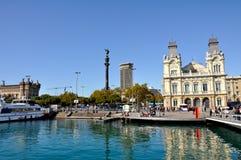 Πανοραμική άποψη της Βαρκελώνης, Ισπανία στοκ εικόνα