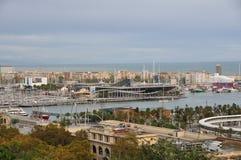 Πανοραμική άποψη της Βαρκελώνης, Ισπανία στοκ εικόνες με δικαίωμα ελεύθερης χρήσης