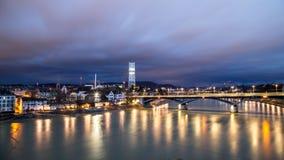 Πανοραμική άποψη της Βασιλείας, Ελβετία Στοκ Εικόνες