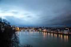 Πανοραμική άποψη της Βασιλείας, Ελβετία Στοκ Εικόνα