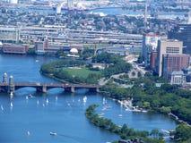 Πανοραμική άποψη της Βοστώνης, ΗΠΑ Στοκ φωτογραφίες με δικαίωμα ελεύθερης χρήσης