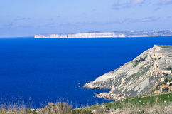 Πανοραμική άποψη της βόρεια περιοχής της Μάλτας και του Γ Στοκ Εικόνες