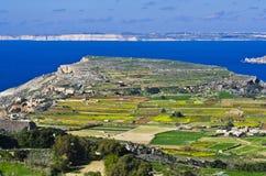 Πανοραμική άποψη της βόρεια περιοχής της Μάλτας και του Γ Στοκ Φωτογραφία
