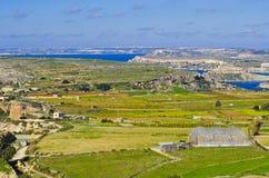 Πανοραμική άποψη της βόρεια περιοχής της Μάλτας και του Γ Στοκ φωτογραφίες με δικαίωμα ελεύθερης χρήσης