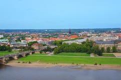 Πανοραμική άποψη της Δρέσδης Στοκ Φωτογραφίες