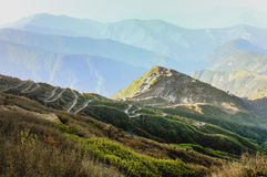 Πανοραμική άποψη της διαδρομής μεταξιού, Sikkim Στοκ Φωτογραφία