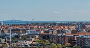 Πανοραμική άποψη της Κοπεγχάγης Στοκ Εικόνα